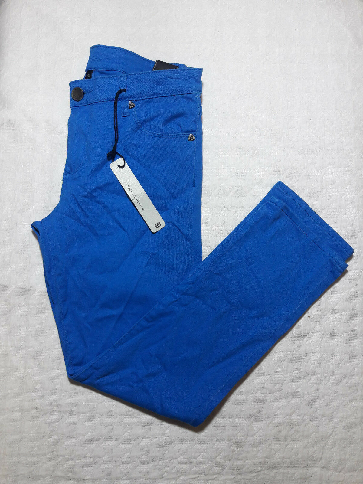 79 Kut from Kloth, Reese Ankle Straight Leg Jeans, KP384MF4, Victoria bluee, 4
