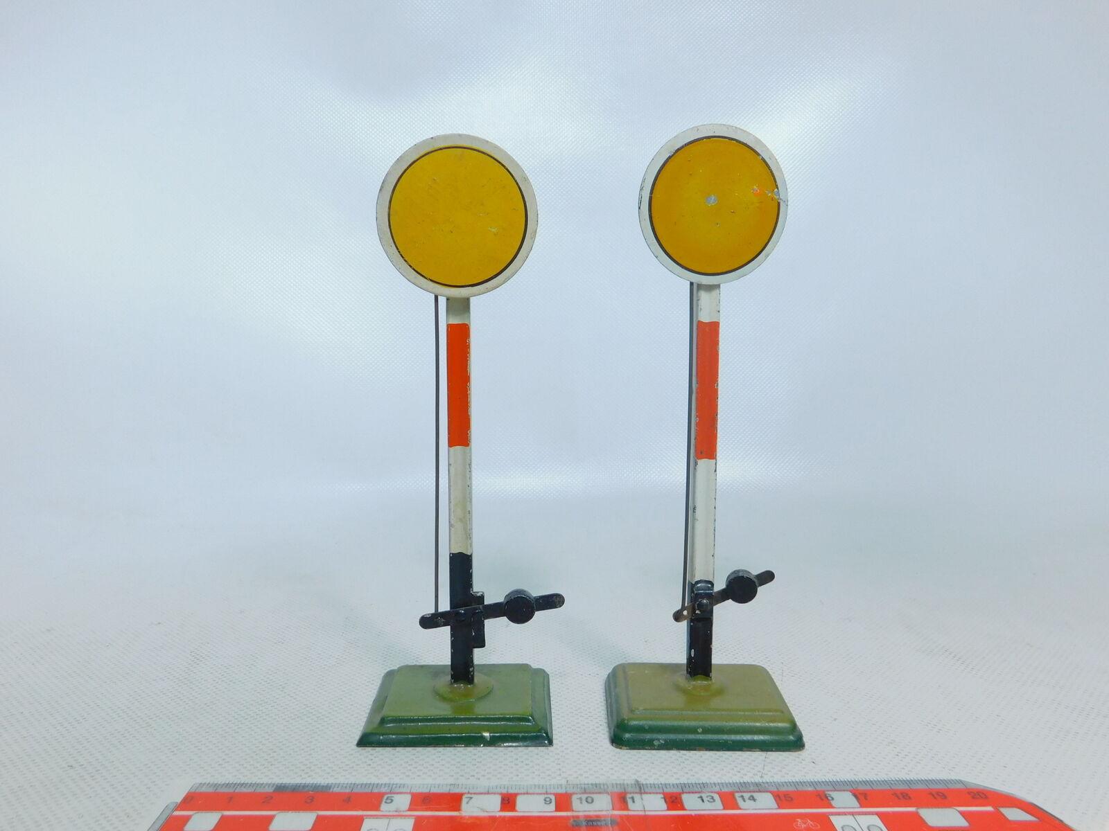 BY374-0,5  2x Märklin Spur 1 Vorsignal Signal Handsignal (Höhe ca. 17,7 cm)