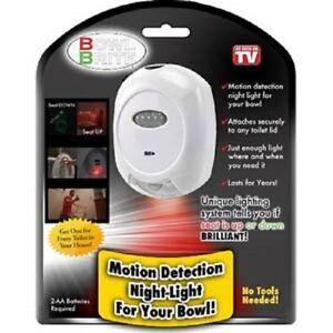 Bowl Brite Toilet Light, As Seen on TV Motion Detecting ...