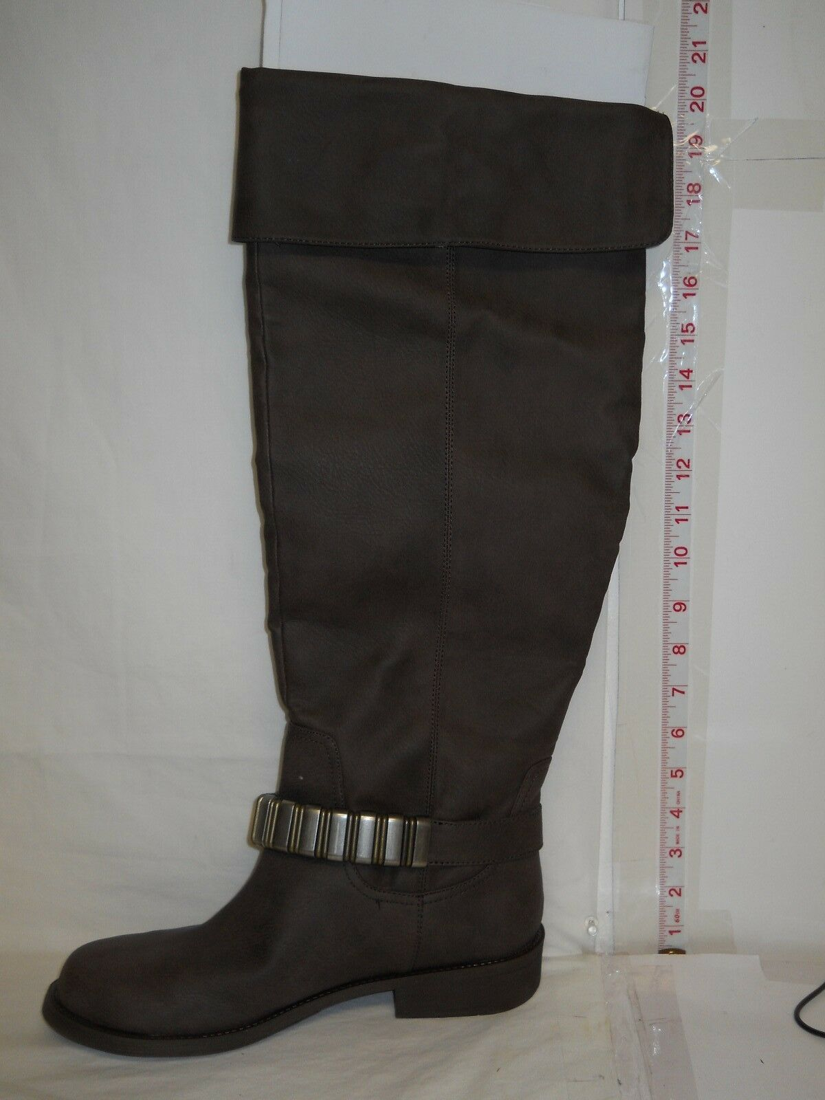 Kenneth Cole Racing Reaction New Donna Moto Racing Cole Bark Brown Stivali 6 M Shoes NWB d6210a