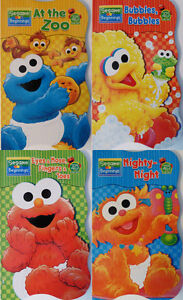 New Sesame Street Beginnings BOARD BOOKS SET Baby Elmo Zoe ...
