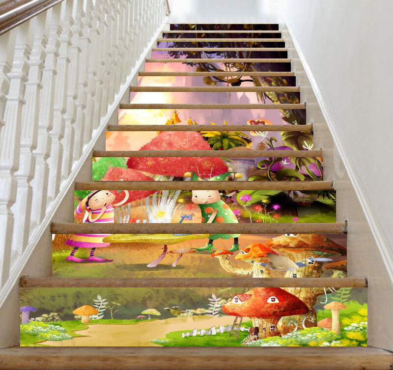 3D Cartoon Forest 1553 Risers Decoration Photo Mural Vinyl Decal Wallpaper CA