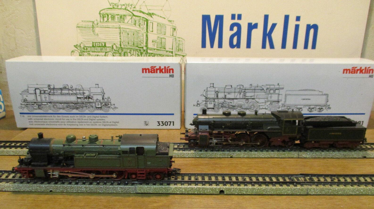 (MB) MÄRKLIN 33071 33181 ÉPROUVÉ & ENTENDU SÉLECTION TOP MODÈLE VITRINE