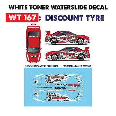 WT267 White Toner Waterslide Decals /> EDELBROCK/_2 />For Custom 1:64 Hot Wheels