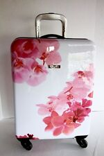 "CALVIN KLEIN Floral Spinner Wheeled Suitcase Luggage 25"" x 16"" x 10"" Hard Side"