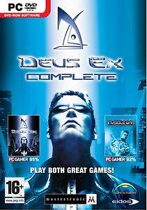 Deus-Ex-Komplett-PC-DVD-ROM-Computer-Videospiel-fuer-Spieler-Alter-16
