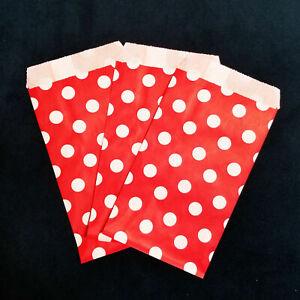 Baby Shower Favors Wedding Favors Chevron Favor Bags Polka Dot Paper Bags Flat Kraft Paper Bags
