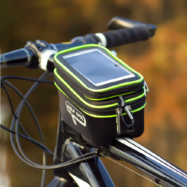 Bike Bicycle Cycling Outdoor Front Pannier Frame Tube Handlebar Bag Double Pouch