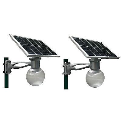 2 sets Outdoor Solar LED Light 40W panel Motion Sensor Yard Street Parking