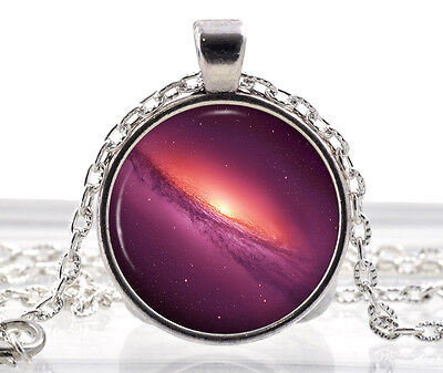 Galaxy Necklace Pendant - Purple Nebula necklace - Space Jewelry Gifts for Women