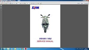 sym vs 150 vs2 service manual ebay rh ebay com Blaze 150 Sym Motorcycles