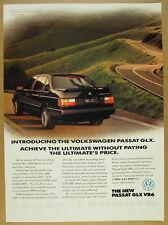 1992 Volkswagen VW Passat GLX black car photo vintage print Ad