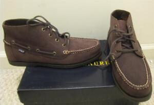75600d9d0f9 NEW POLO RALPH LAUREN Mens Brown Oiled Suede Mens Boots Shoes 11.5 D ...