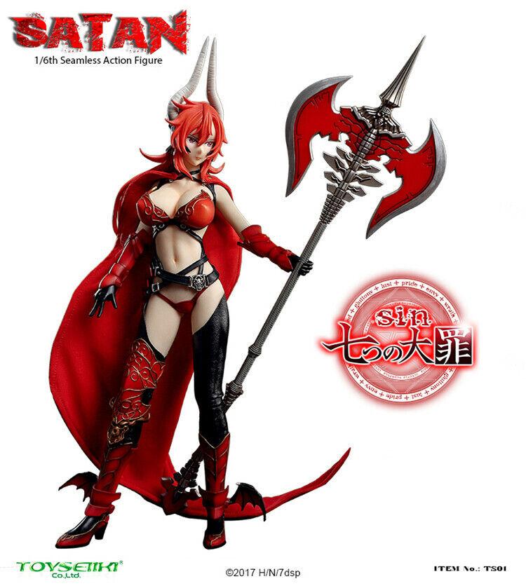 Toyseiiki 1 6 Anime pecado siete Pecados-Satanás Demonio Muñeca Movible Colección de TS01