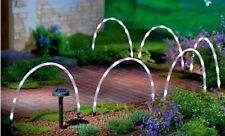 Charmant 6 X LED Tube Solar Powered Garden Stick Lights Decking Border Path Edging  Bright