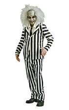 Adult DELUXE BEETLEJUICE Fancy Dress Costume Mens Halloween Outfit Beetle Juice