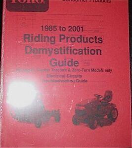 toro wheel horse 85 01 electrical circuits guide abridged garden toro wheel horse 85 01 electrical circuits guide
