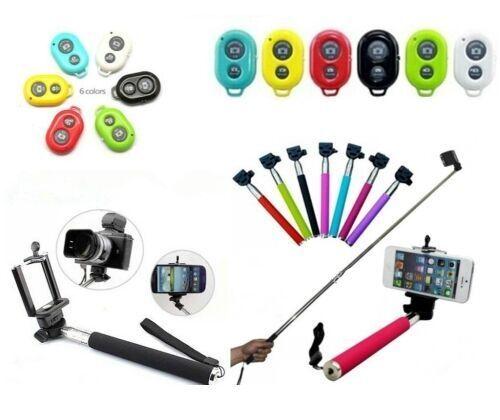 SELFIE STICK + BLUETOOTH SHUTTER TELECOMANDO MONOPOD GO PRO ASTA per Smartphone