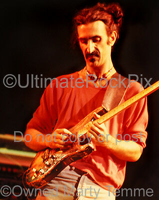FRANK ZAPPA PHOTO BURNED HENDRIX STRAT Concert Photo in 1978 by Marty Temme