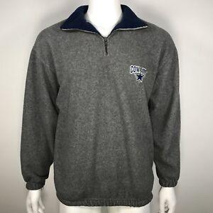 new arrive 79aa0 3f033 Vintage Dallas Cowboys Mens Medium Sweater Fleece 1/4 Zip ...