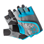 Ladies Basic Grey//Turquois ProForce Fitness Workout /& Weight Lifting Gloves