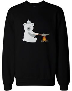 Cute-Polar-Bear-Grilling-Fish-Sweatshirt-Winter-Sweater-Unisex-Pullover-Fleece