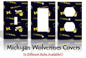 Details About Michigan Wolverines 2 Light Switch Covers Football Ncaa Home Decor Outlet