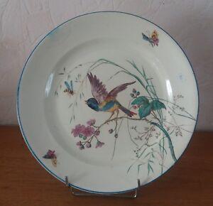 grand-plat-ancien-XIXieme-medaille-1878-en-faience-de-CLAIREFONTAINE-oiseau