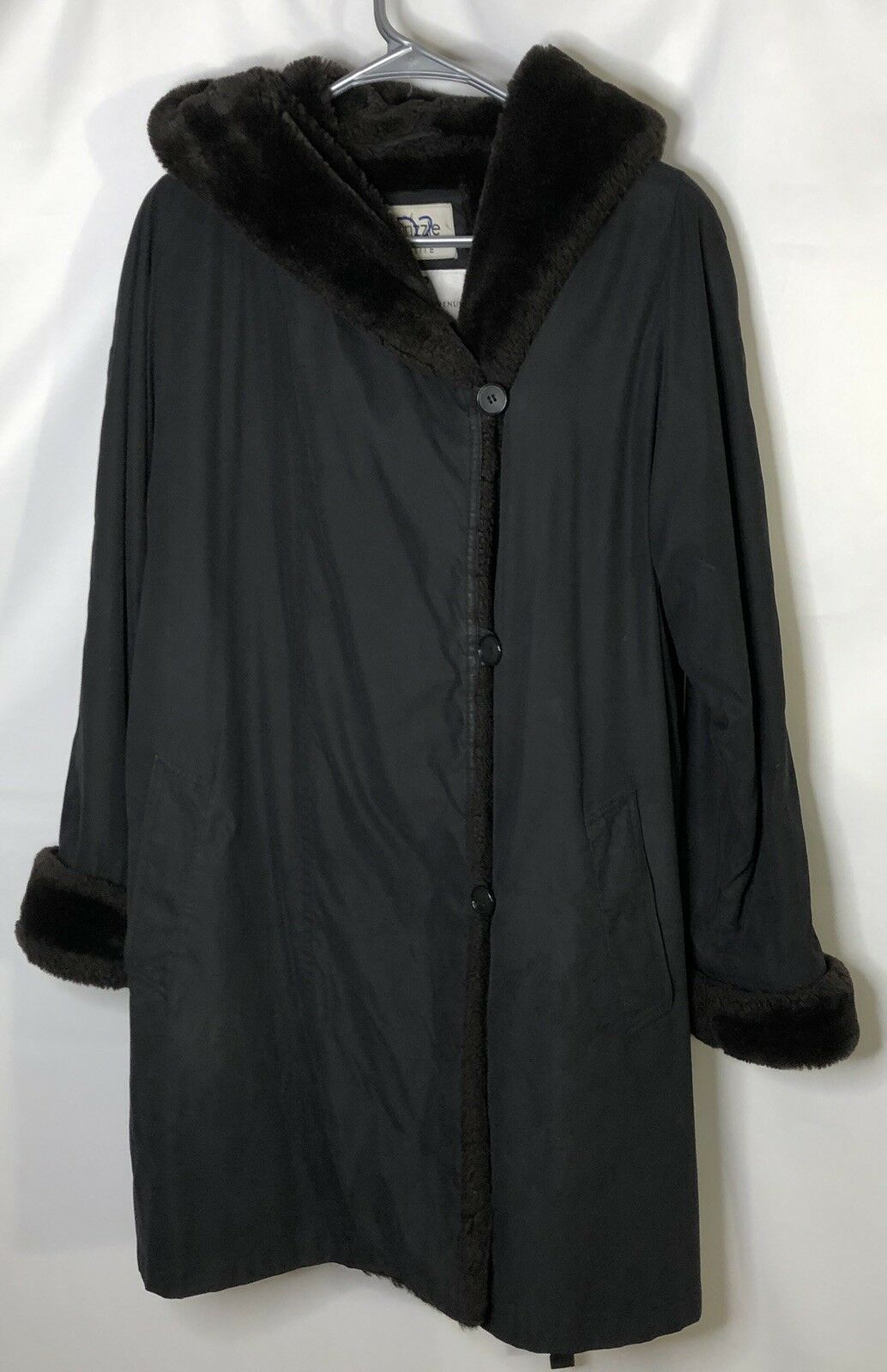 Saks Fifth Ave Petites D2 Drizzle Womens Coat Water Resistant Faux Fur Lining