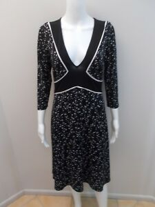 LEONA-BY-LEONA-EDMISTON-BLACK-WHITE-DRESS-SIZE-1-8-10-C139