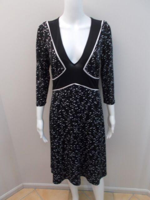 LEONA BY LEONA EDMISTON BLACK/WHITE DRESS SIZE 1=8/10  (#C139)