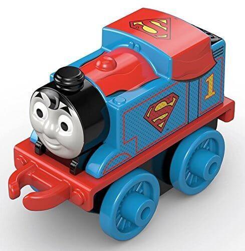 Fisher-price Thomas Y Amigos Minis-Superman Thomas 4cm embolsado Coleccionable..