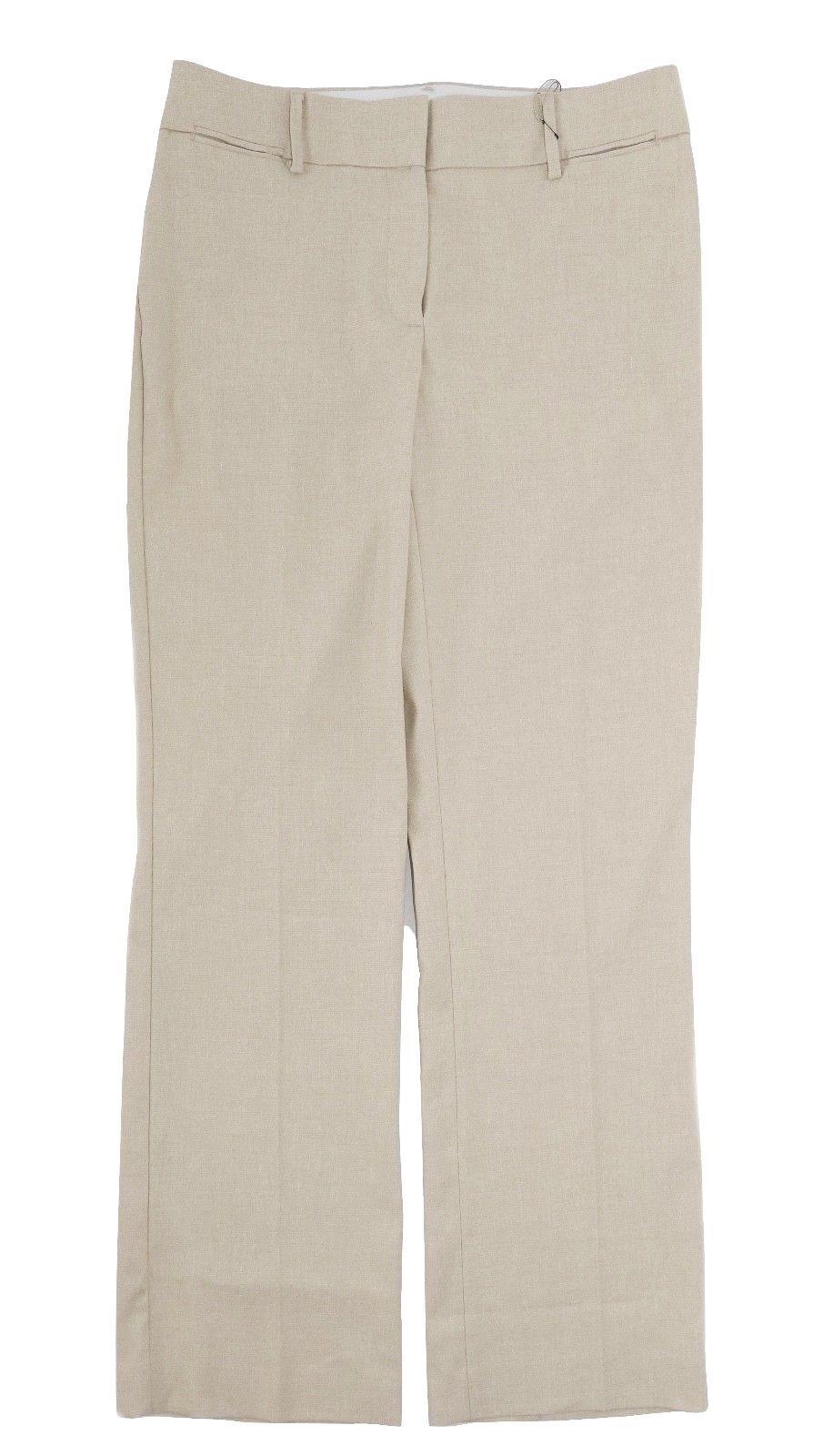 LOFT Women's 8 Marisa Fit - NWT 79  - Stone Textured Linen Blend Trouser Pants