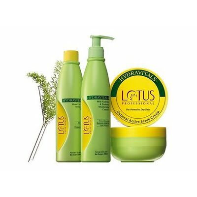 Lotus Professional Facial Kit For Normal To Dry Skin With Ayur Lotion