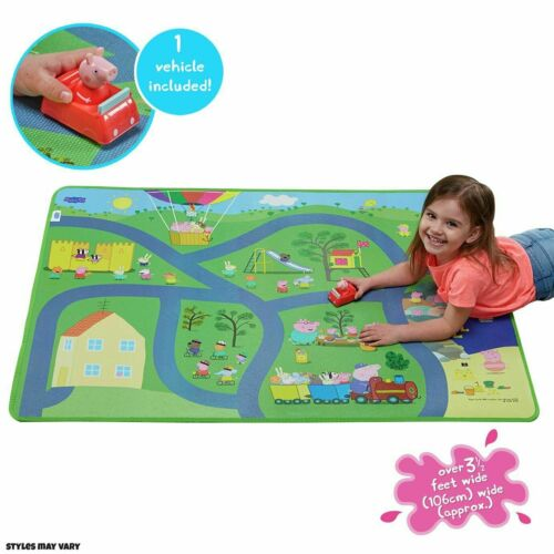Peppa Pig Jumbo//Large// Mega Play Mat Playmat /& 1 Vehicle Accessories Toy