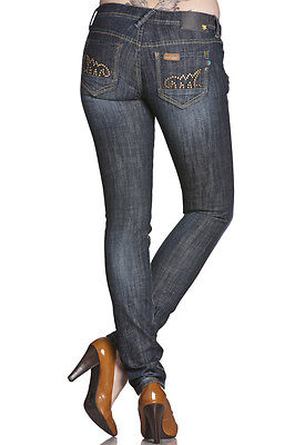 SALE DESIGNER MEK Denim Women/'s Kato Skinny Dark Wash Jeans with Studded Detail