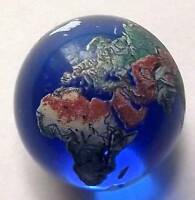 22mm Detailed Solid Glass Earth Globe Reiki Distance Healing Marble