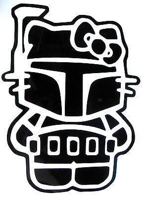 Hello Kitty Boba Fett Star Wars Car, Wall, Vehichle, Window Vinyl Sticker