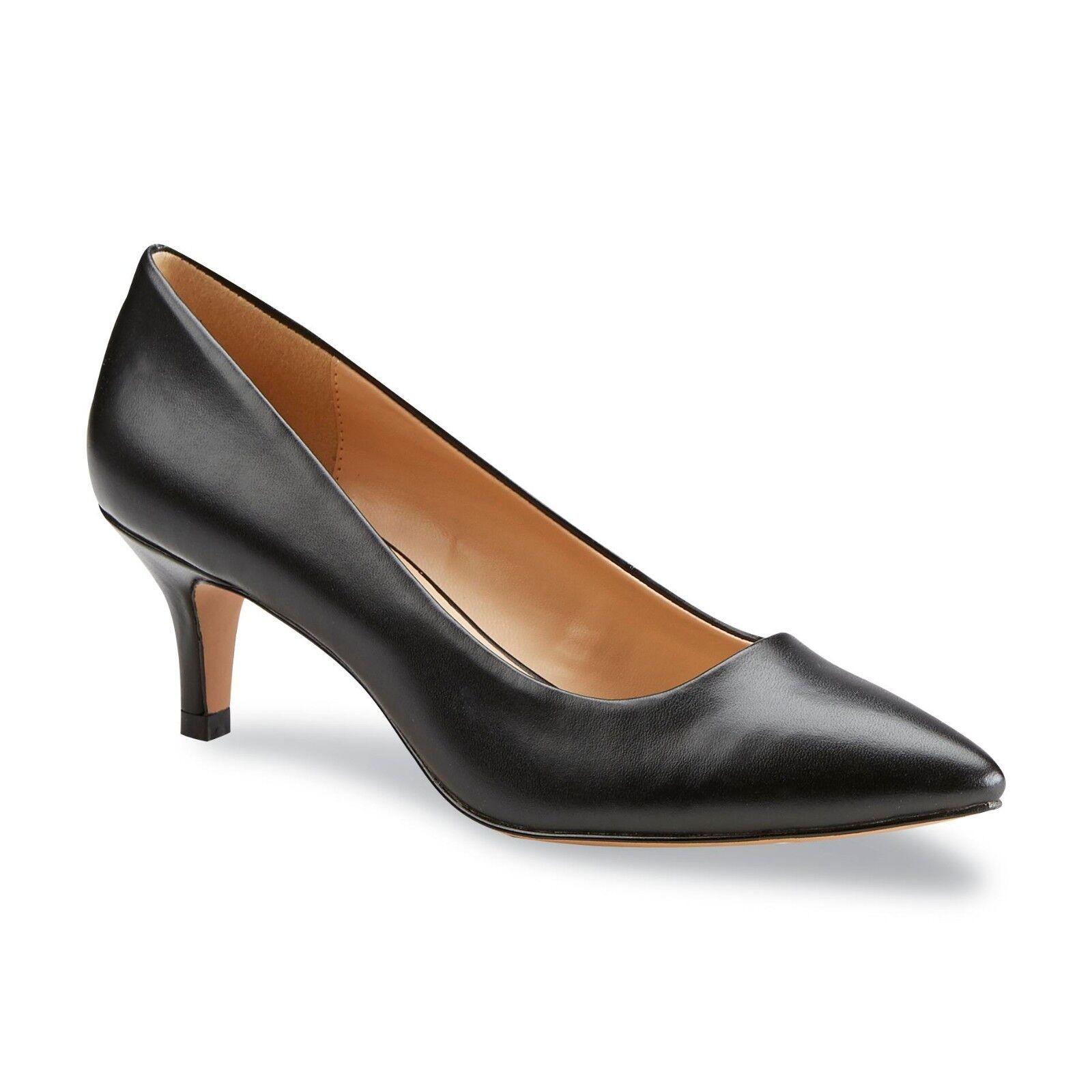 Covington Women's Mia Black Faux Leather Pump shoes Size 8, 8.5 or 9 Medium