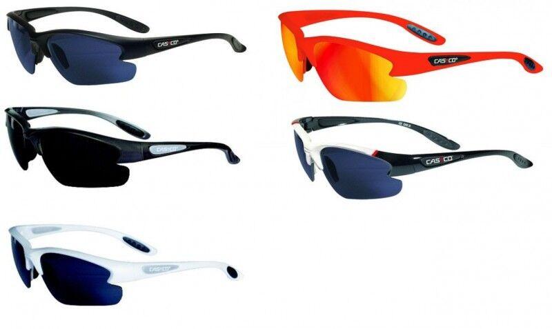CASCO Fahrrad Sportsonnenbrille SX-20 Polarized Polarisiert, Schwarz Weiß Orange  | Wonderful