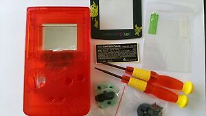Étui Complet + Ecran Compatible Game Boy Couleur Pikachu Transparent Réseau