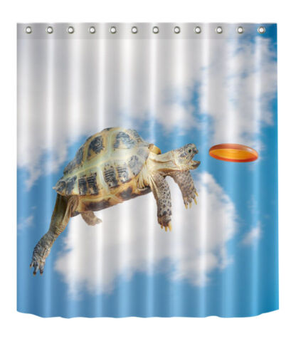 "Tortoise Cloud Shower Curtain 72//79/"" Bathroom Mat Waterproof Fabric Decor YL4000"