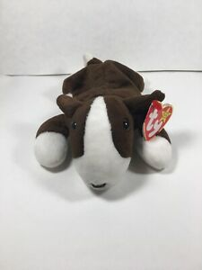 TY Beanie Baby BRUNO The Bull Terrier 1997 FREE SHIPPING