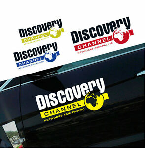 2 PCS Graphics Vinyl DISCOVERY CHANNEL Car Stickers Auto Doors Decal Emblems