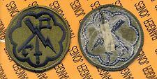 US Army 207th Military Intelligence Brigade OD Green & Black patch m/e