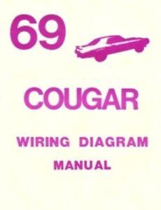 Cougar 1969 Xr7 Wiring Diagram Manual 69 Ebay