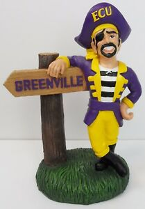 Oxbay East Carolina ECU Pirates Mascot Resin Ornament W//Sign Greenville 4