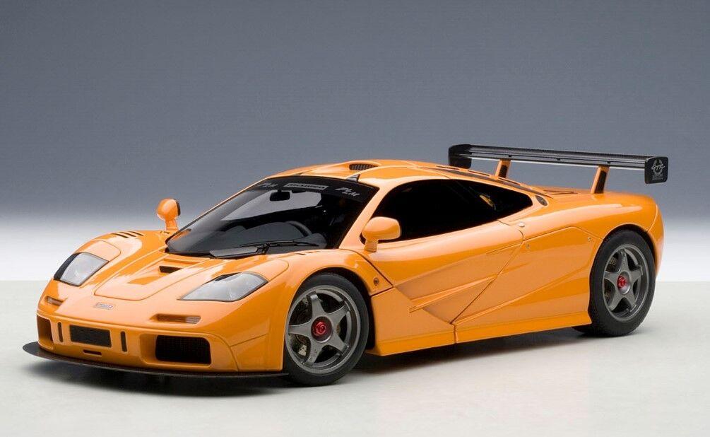 76011 bilkonst 1 18 McLaren F1 LM orange -modelllllerlbilar