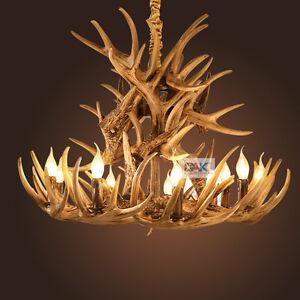 Vintage mid century chandelier lighting brownwhite antler pendant image is loading vintage mid century chandelier lighting brown white antler aloadofball Image collections