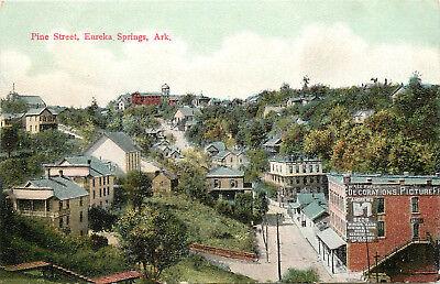 Vintage Postcard Pine Street Eureka Springs AR Carroll ...